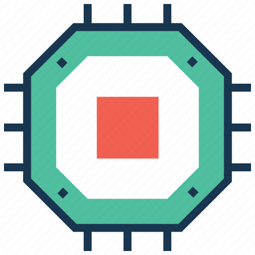 chip, cpu, hardware, microchip, motherboard icon