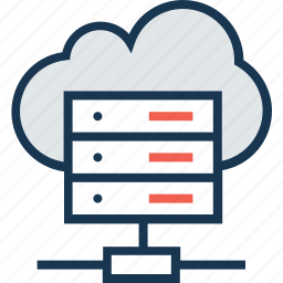cloud, computing, domain, server, web hosting icon