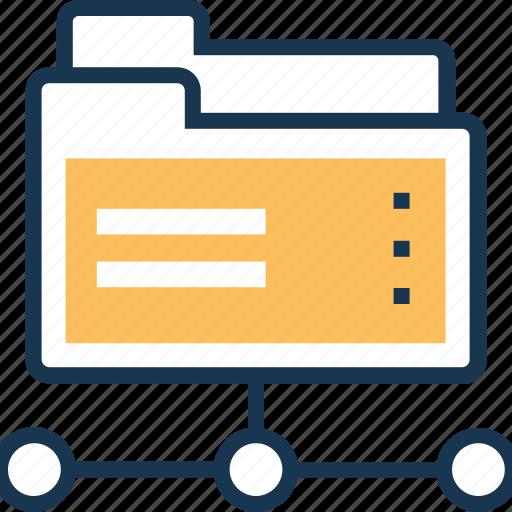data, data share, folder, network folder, share folder icon