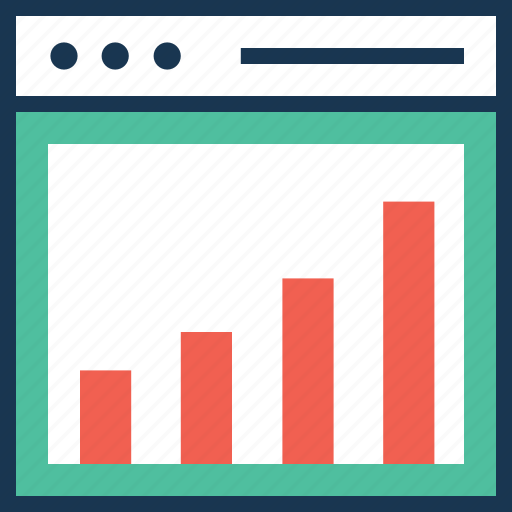 arrows, bar graph, graph, performance, seo graph icon