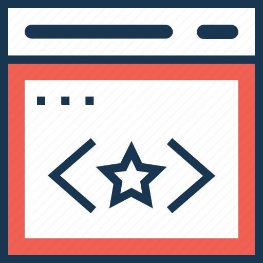 clean code, coding, premium, quality coding, ranking icon