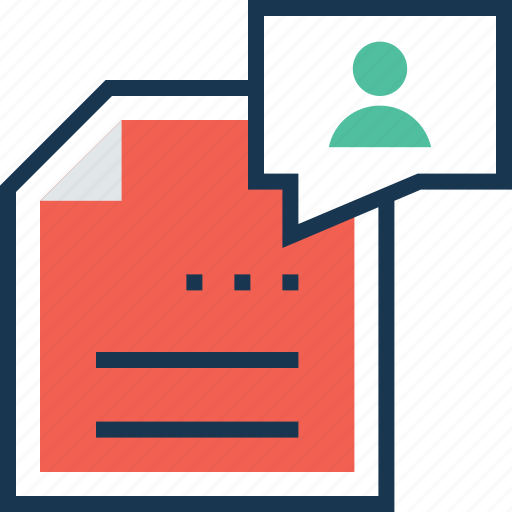 extension, file, need, profile, requirement icon