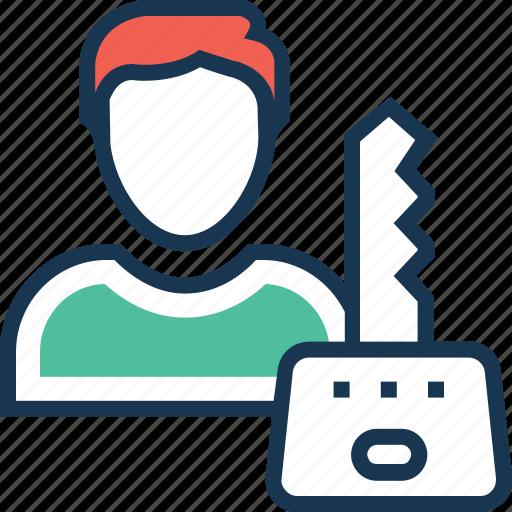 access, avatar, entry, password, profile icon