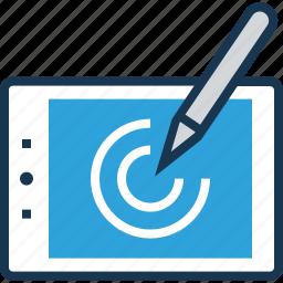 canvas, painting, pen tablet, wacom, wacom cintiq icon