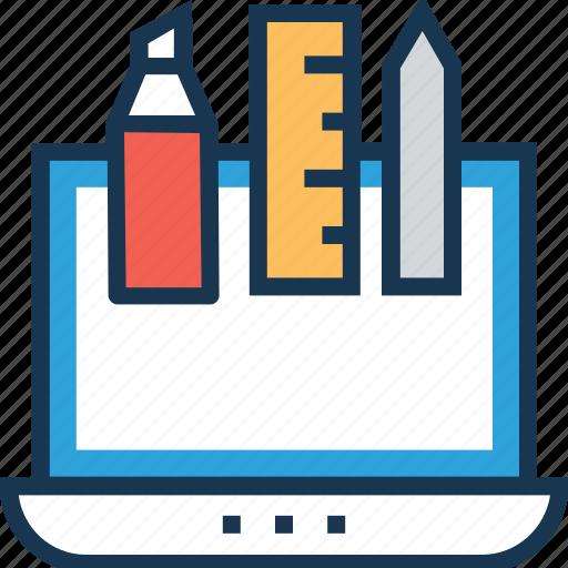 artwork, designing, draft tools, graphic design, ruler icon