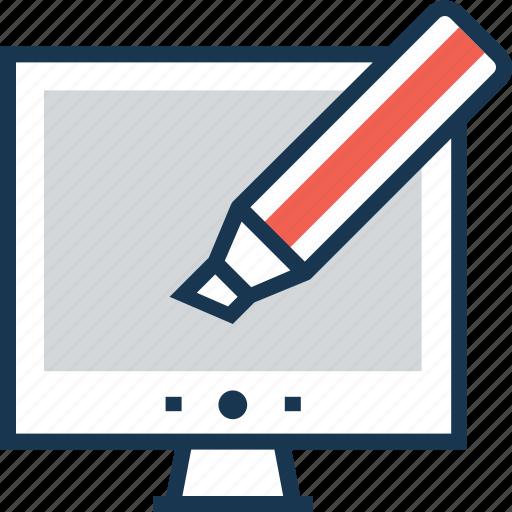 content, design, graphic, marker, web design icon