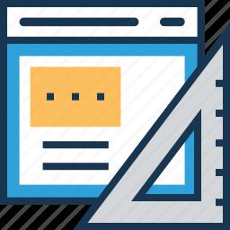 designing, development, feature, layout, web design icon