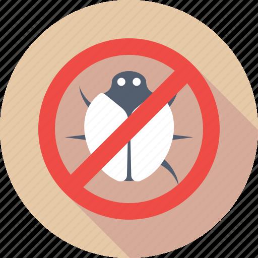 antivirus, malware, no bug, threat, virus icon