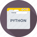 coding, development, programming, python, web icon