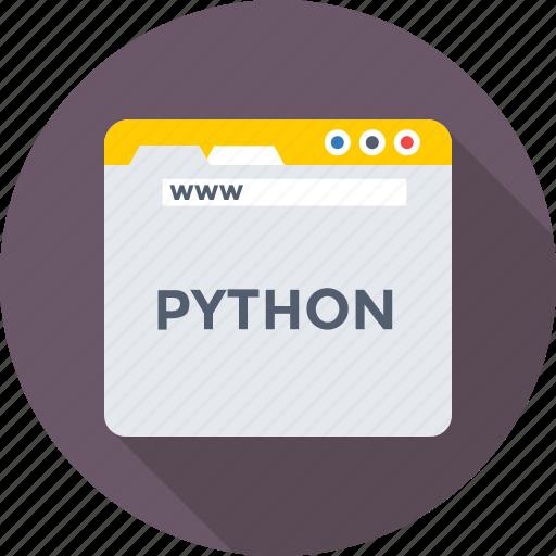 coding, development, programming, python, web icon