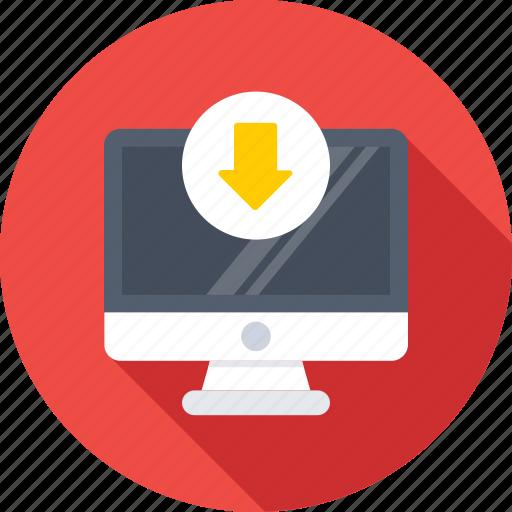 arrow, download, import, inbox, monitor icon