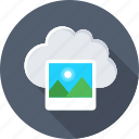cloud, cloud computing, image, photo, storage icon