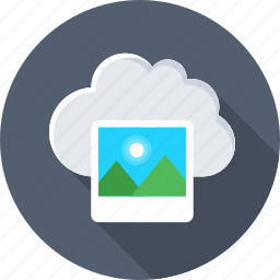 cloud, cloud computing, image, photo, storage icon