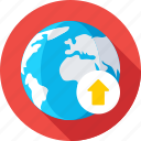 web, globe, internet, uploading, online