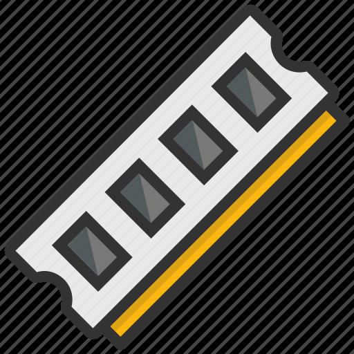 computer hardware, computer ram, megabytes, memory chip, ram icon
