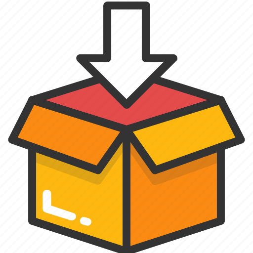 cardboard box, cargo, delivery box, delivery package, parcel icon