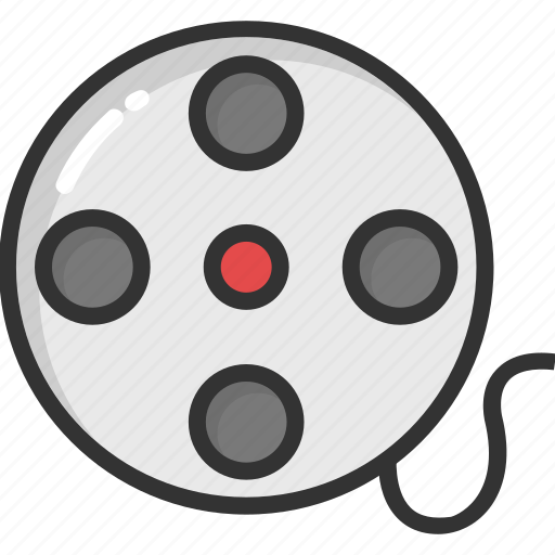 cinema, movie reel, movie strip, multimedia, video reel icon