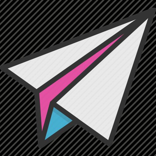mail sending, paper aeroplane, paper airplane, paper plane, send message icon