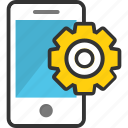 app development, mobile app, mobile configure, mobile settings, mobile with cog icon