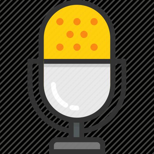 audio, mic, microphone, recording, retro icon
