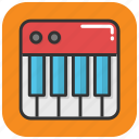 clavichord, music, musical instrument, piano, pianoforte icon