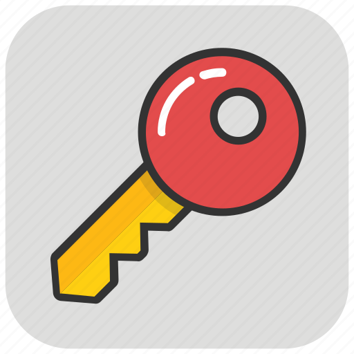key, lock key, protection, retro key, safety icon