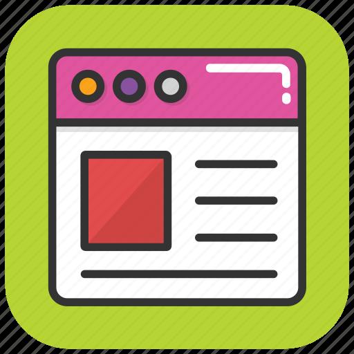 online article, web article, web blog, web story, web storytelling icon