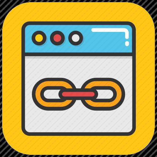 backlinks, link building, seo, web link, web marketing, web traffic icon