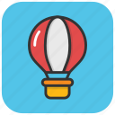 air balloon, airplay, fly, hot air balloon, travel icon