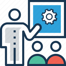 conference, lecture, seminar, seo training, training icon