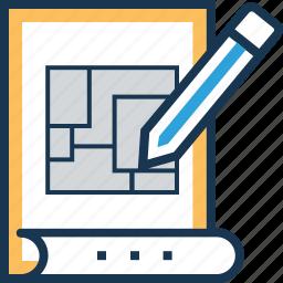 architect, architecture file, blueprint, design, product design icon