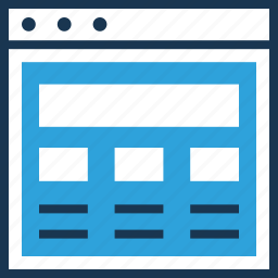 layout, web layout, web page, wireframe icon