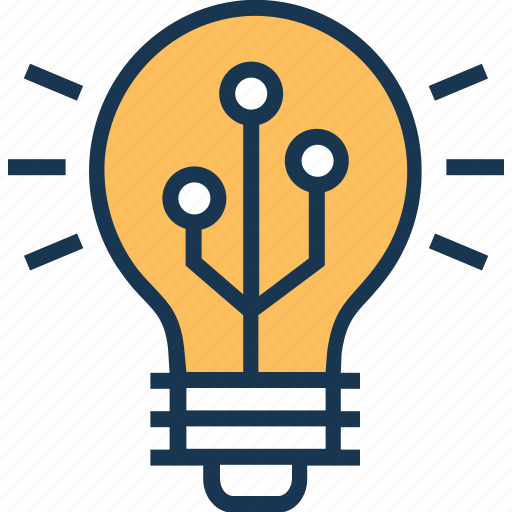 bulb, genius, idea, innovation, power icon