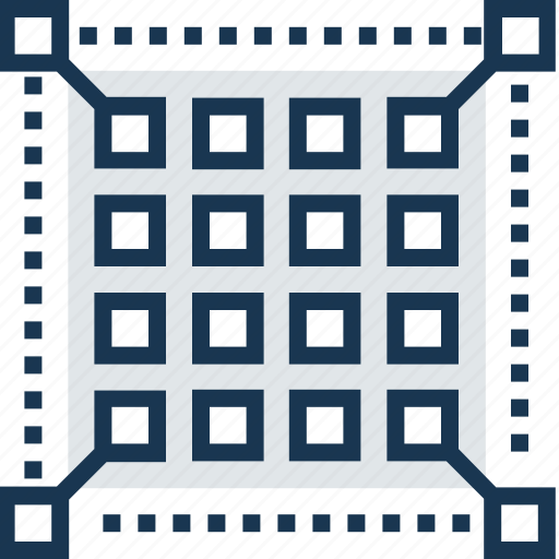 grid, layout, line, pixel grid, shape icon