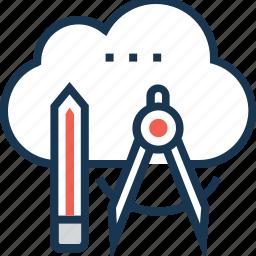 creative cloud, design, divider, pencil, productivity icon