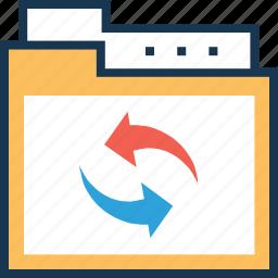 document, file, file transfer, folder, share icon