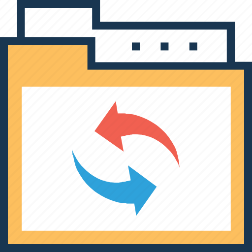 document, file, file transfer, folder, share icon