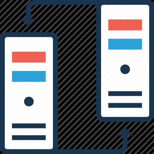 data, data exchange, exchange, server, server date icon