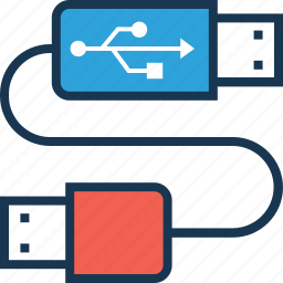 connection, data cable, usb cable, usb cord, usb plug icon