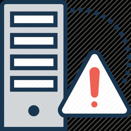data, error, exclamation, server, server error icon