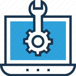 cog, programming, settings, spanner, web development icon