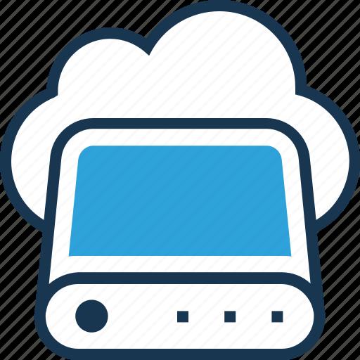 big data, cloud, cloud storage, database, drive icon