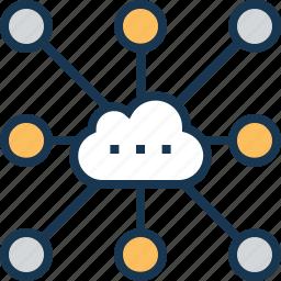 cloud, cloud sharing, computing, data cloud, network icon