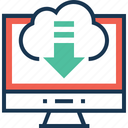 cloud, cloud download, computing, download, network icon