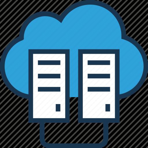 computing, data, data center, network, server icon
