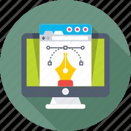 artwork, designing, graphics, monitor, photoshop icon