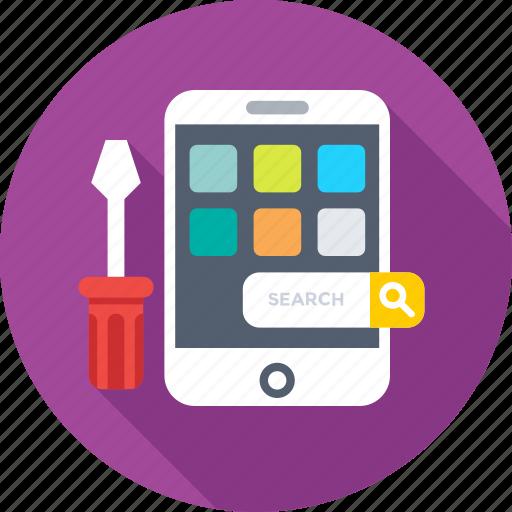 api, mobile, mobile development, programing, screwdriver icon