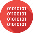 binary, binary code, coding, development, programming icon