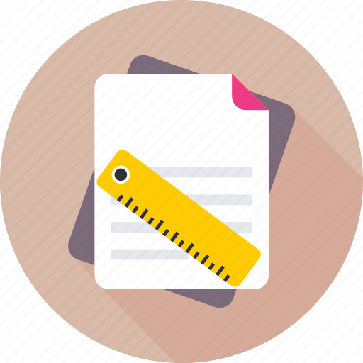 document, drafting, drawing, file, scale icon
