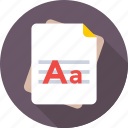 alphabet, article, blog, content, font icon